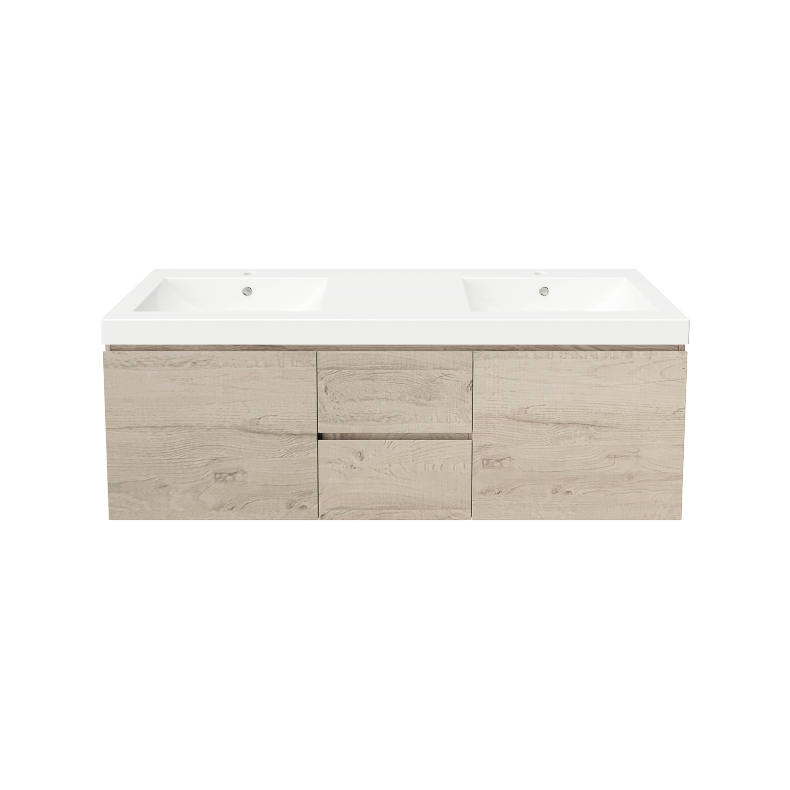 Forme 1500mm Gloss Mont Albert Wall Hung Vanity With Polymarble Top - Light Ash