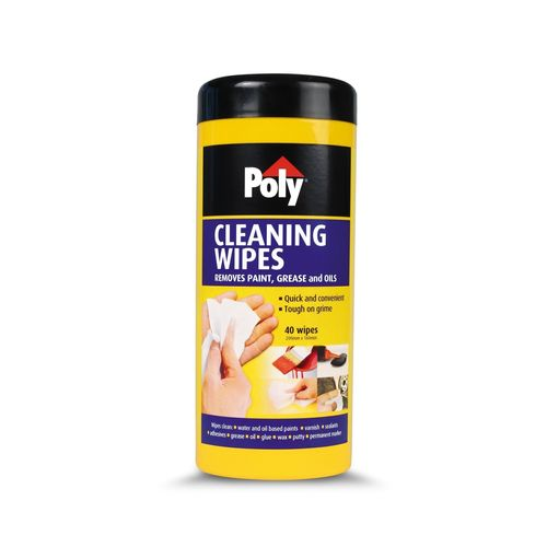 Poly Cleaning Wipes - 40 Pack
