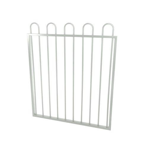 Protector Aluminium 975 x 1200mm Loop Top Ulti-M8 Pool Gate - Pearl White