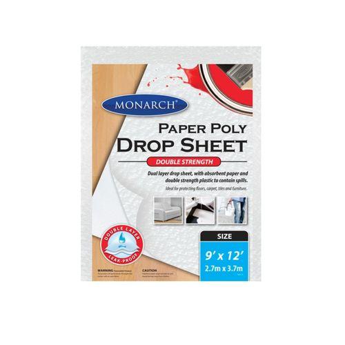 Monarch 9 x 12' Paper Poly Double Strength Drop Sheet