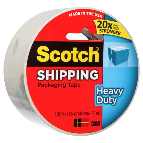 3M Scotch 48mm x 50m Heavy Duty Shipping Packaging Tape