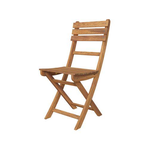 Interbuild Golden Teak Sofia Folding Chair - 2 Pack