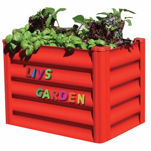 My First Garden 550 x 350 x 410mm Bright Red Raised Garden Bed