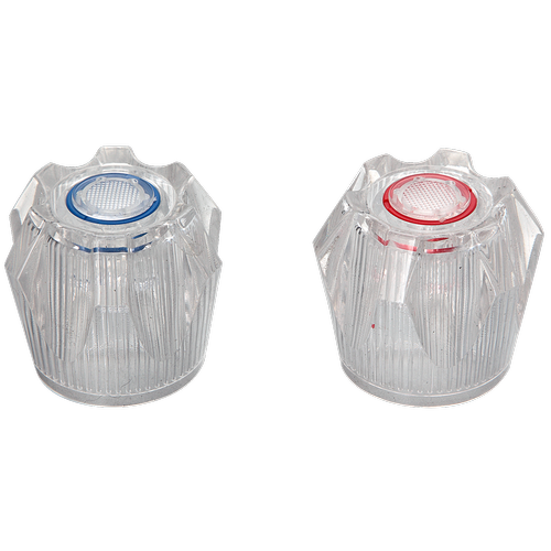 Shaw & Mason Clear PVC 6 Point Style Handles