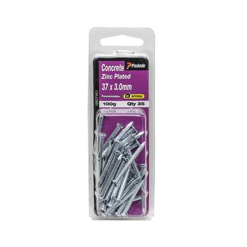 Paslode 37 x 3.0mm Zinc Plated Concrete Nails - 35 Pack