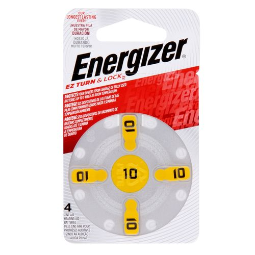 Energizer  Size 10 Turn And Lock Hearing Aid Battery - 4 Pack