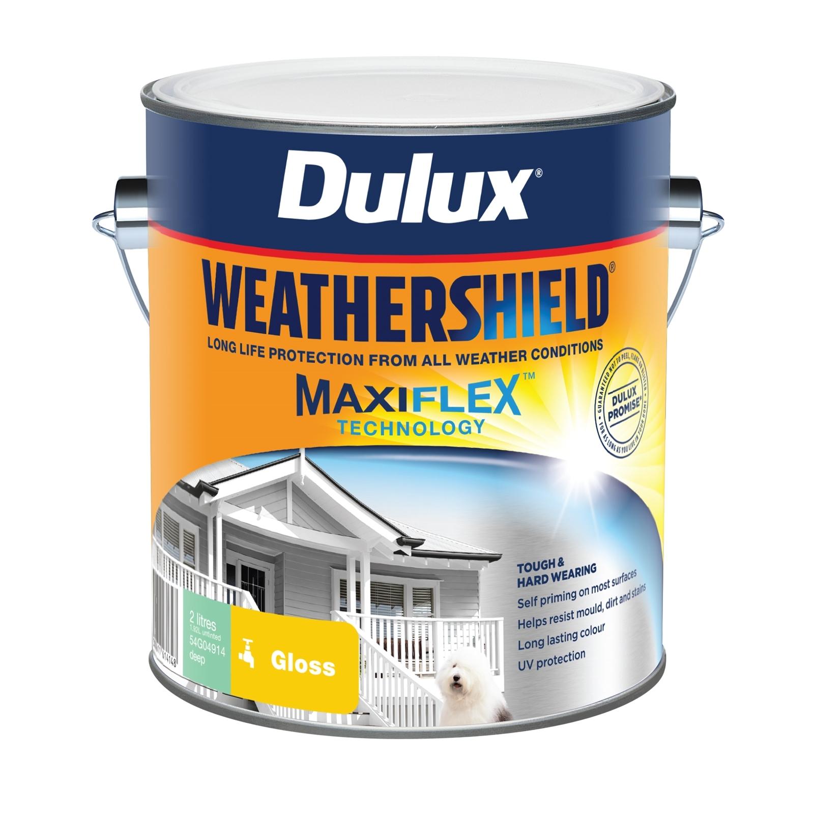 Dulux 2L Exterior Paint Weathershield Gloss Deep