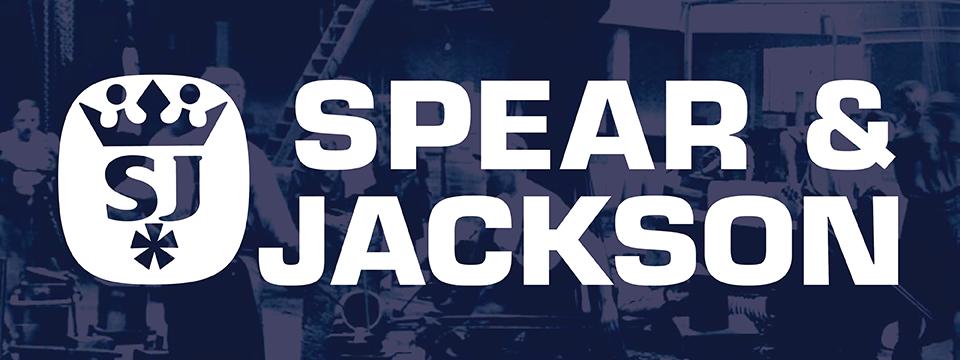 Spear & Jackson logo on a banner