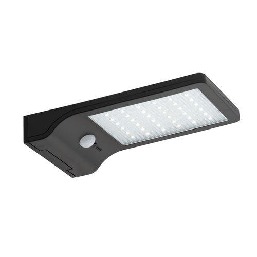 Arlec Black Ritter Sensor Solar Wall Light