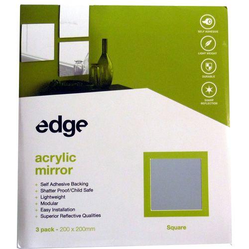 Edge 200 x 200mm Square Acrylic Mirror