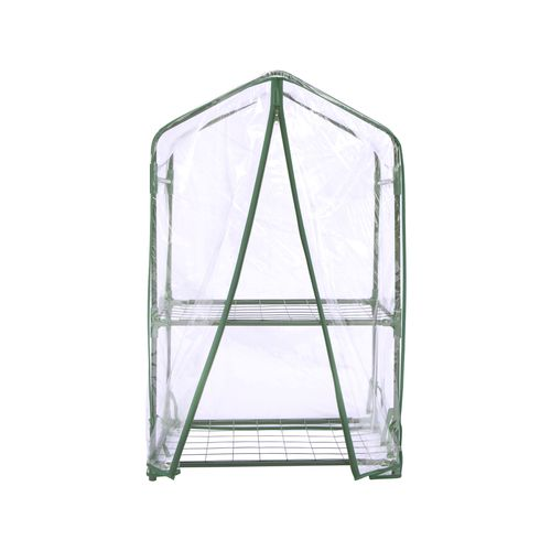 Backyard Farmer 2 Tier Greenhouse with PVC Cover and Pegs