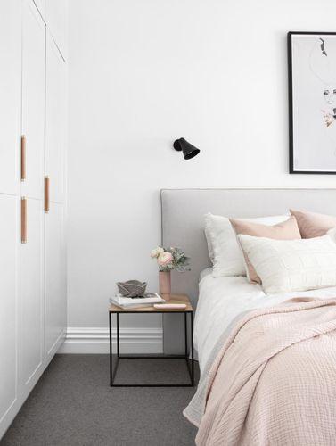 white wardrobes in bedroom