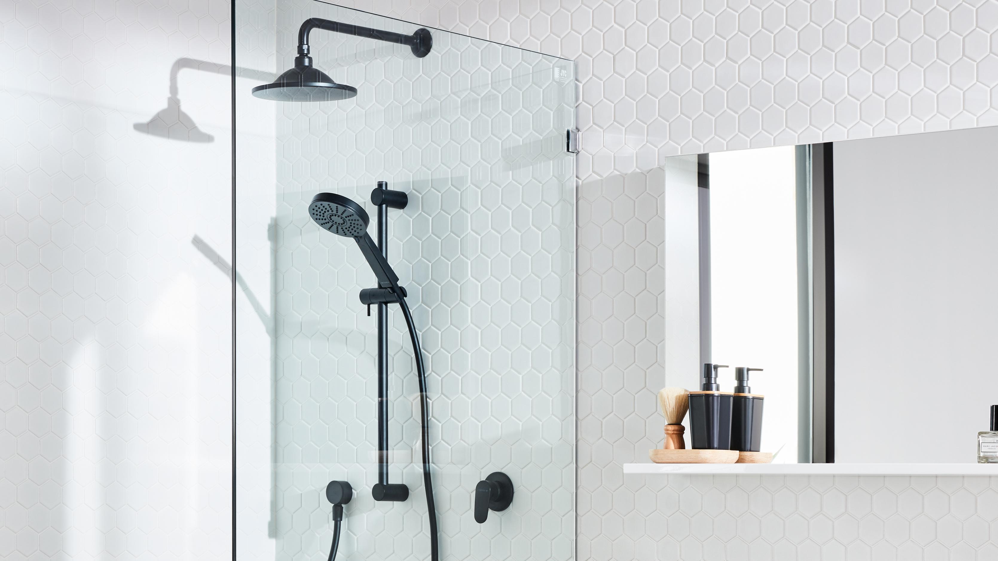 Dual shower head setup.