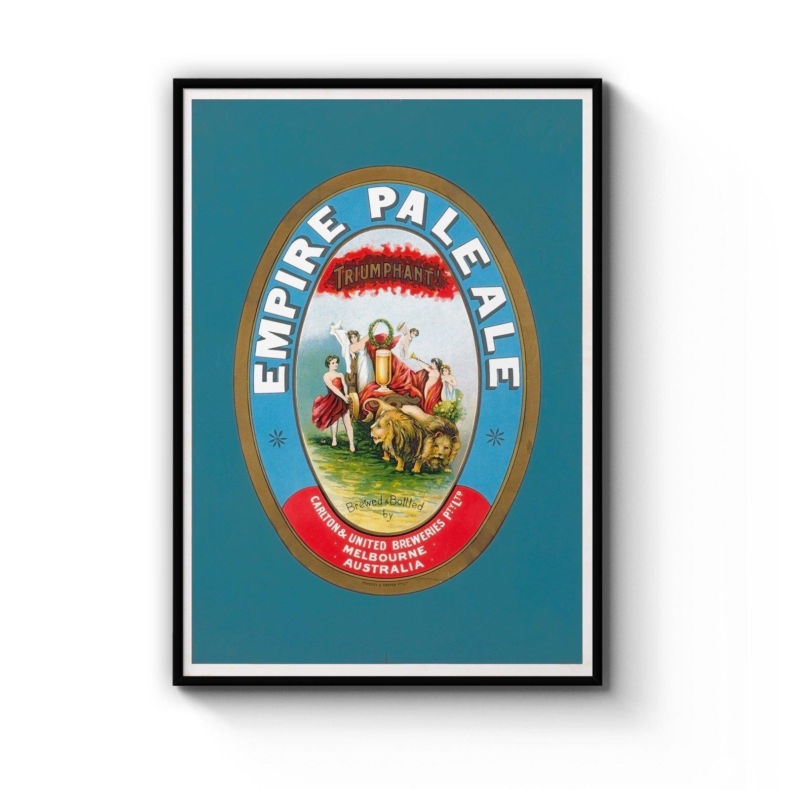 Empire Pale Ale Brewery Vintage Beer Wall Art