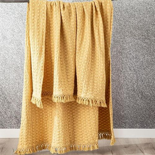 Renee Taylor Alysian Washed Cotton Textured Chia Throw