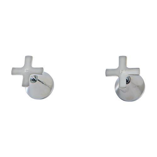 MIXX Chrome Juniper 1/4 Turn Ceramic Disc Wall Stops Set