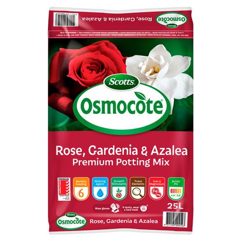 Scotts Osmocote 25L Rose, Gardenia & Azalea Premium Potting Mix