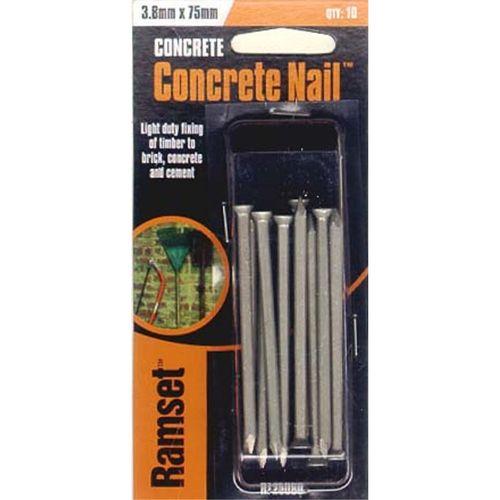 Ramset Concrete Nail 3.8 x 75mm 10pk