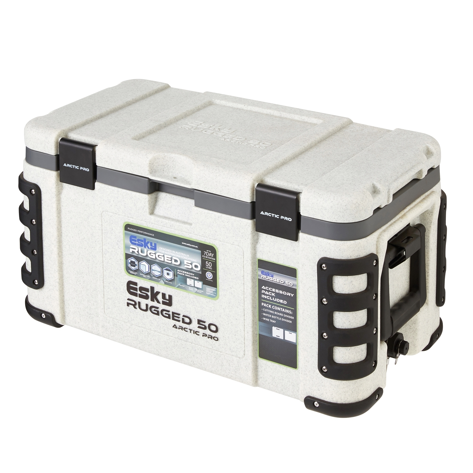 Esky 50L Arctic Pro Rugged Cooler With Accessory Pack