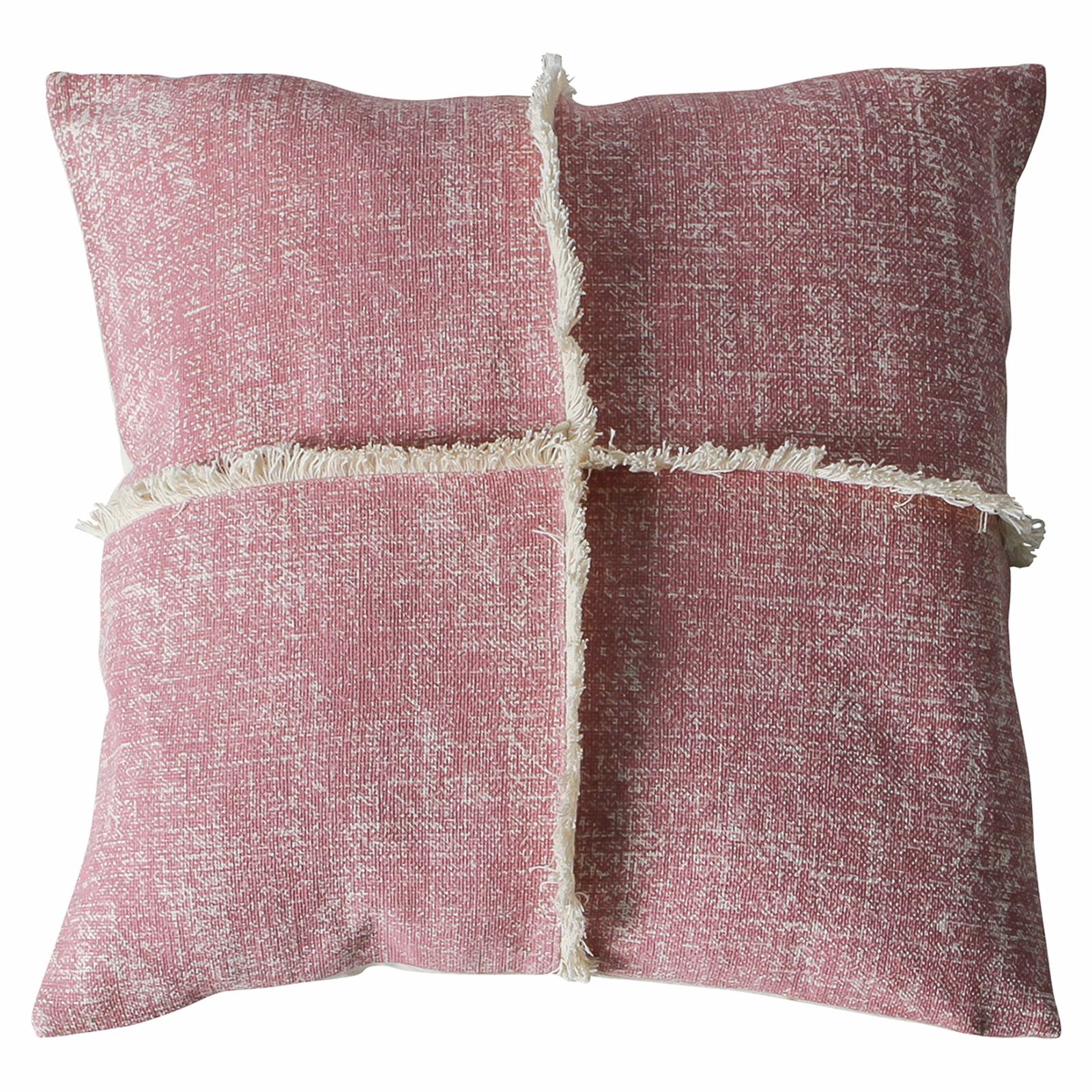 Grace 450 x 450mm Blush Fringe Cushion
