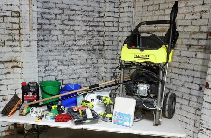 DIY Step Image - How to apply epoxy to a garage floor . Blob storage upload.