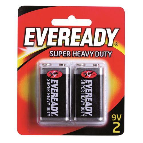 Eveready 9V Super Heavy Duty Battery - 2 Pack