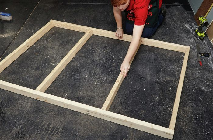 DIY Step Image - How to make a modern timber bedhead . Blob storage upload.