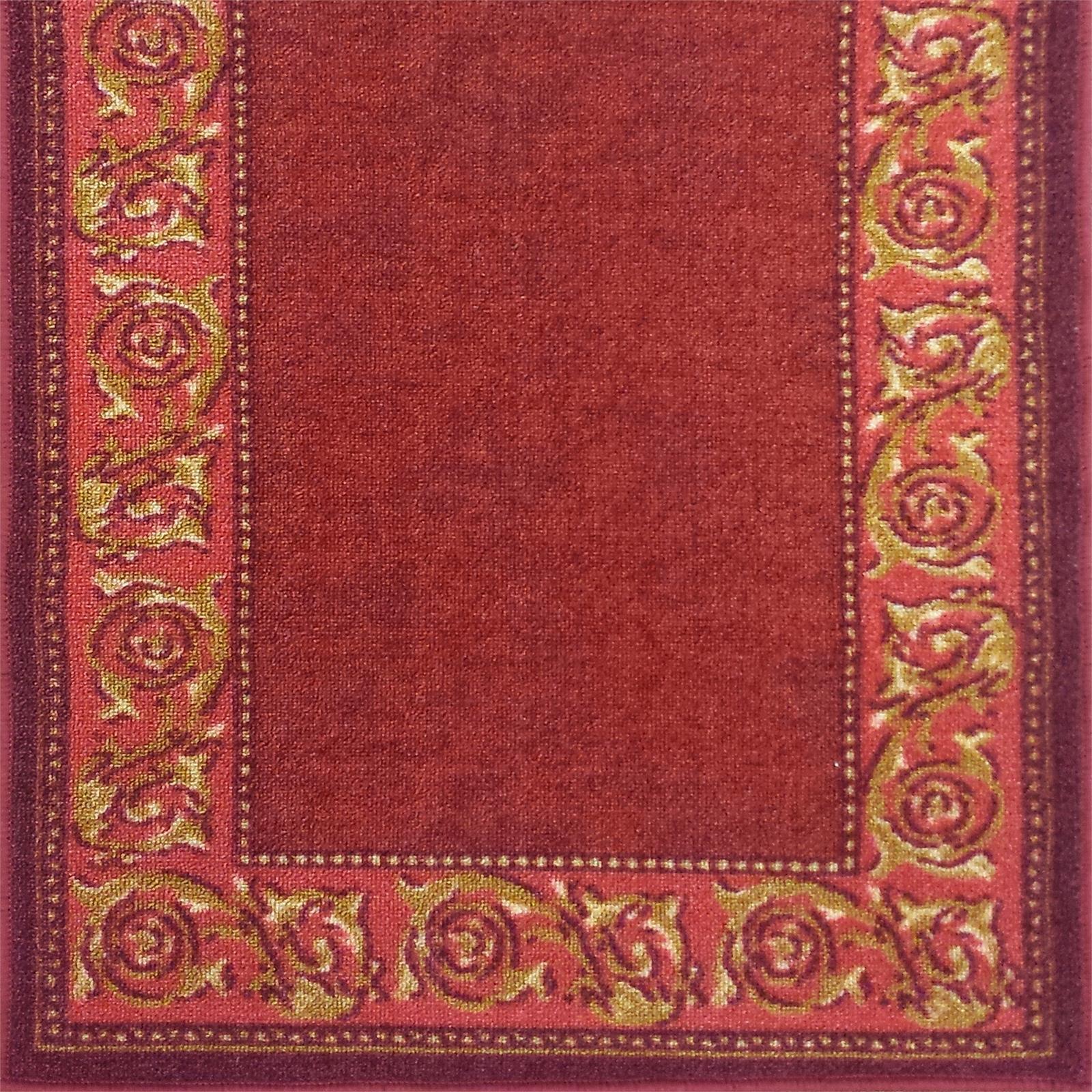 Ideal DIY 67 x 294cm Gold Leaf Red Loop Pile Carpet Runner