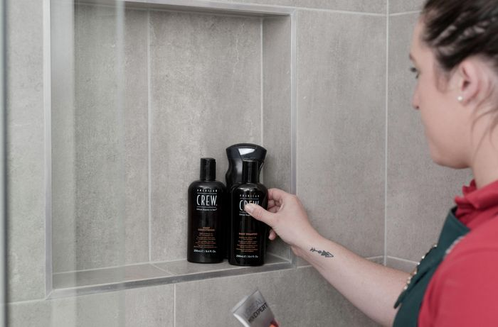remove products from shower