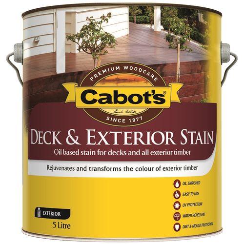Cabot's Deck & Exterior Stain Oil Based 5L Blackbean