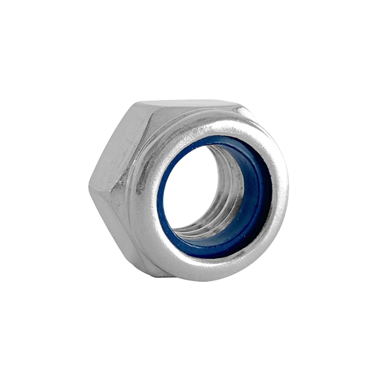 Pinnacle M4 Stainless Steel Nylon Lock Nut - 10 Pack