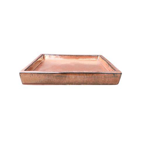 Northcote Pottery Copper Primo Square Saucer - 300mm