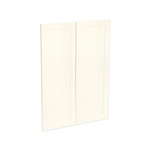Kaboodle 900mm Antique White Alpine Medium Pantry Door - 2 Pack