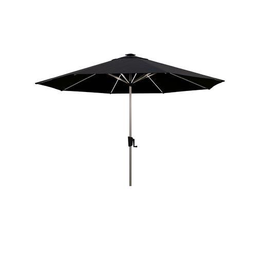 Coolaroo Black Bondi Solar LED Market Umbrella