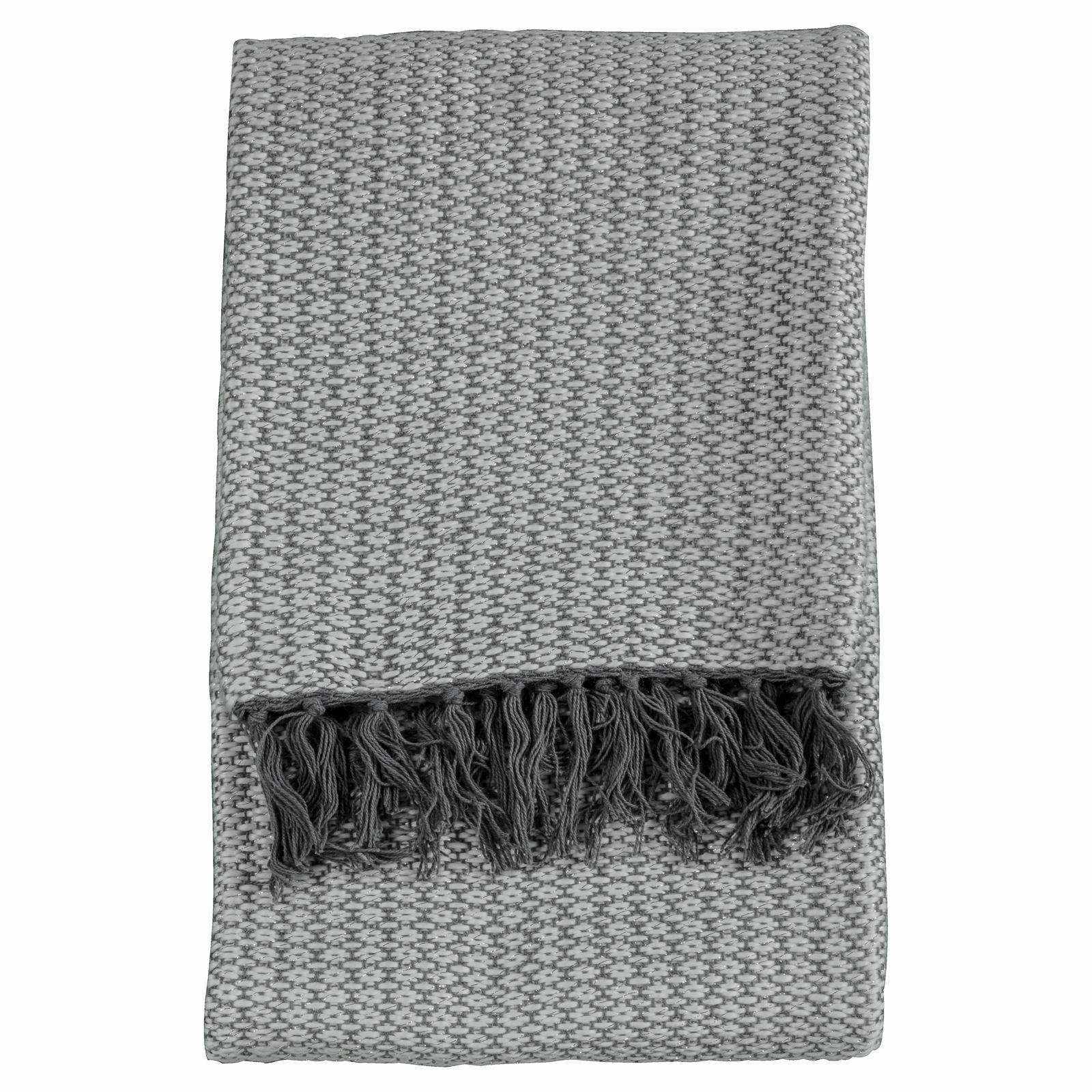 Boutique Ballia Metallic Grey Throw
