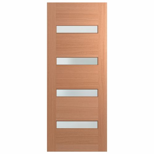 Hume Doors 2040 x 820 x 40mm Savoy Entrance Door With Frosted Glass