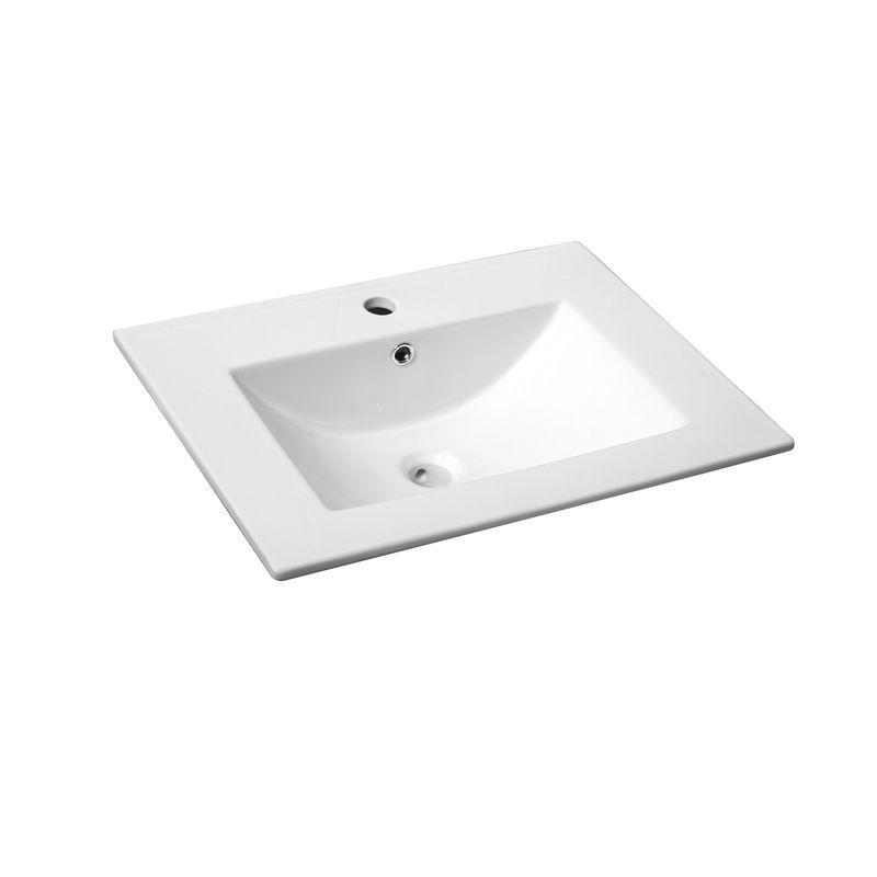 Rococo 600mm White Vanity Basin