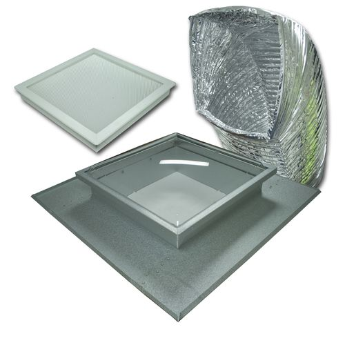 Ezylite 400mm Dual-Tray Square Skylight Kit