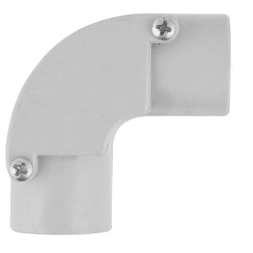Deta 25mm Grey Conduit Fittings Inspection Elbow