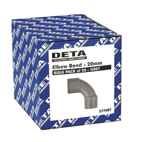 Deta Conduit Elbow Bend 20mm 20pk