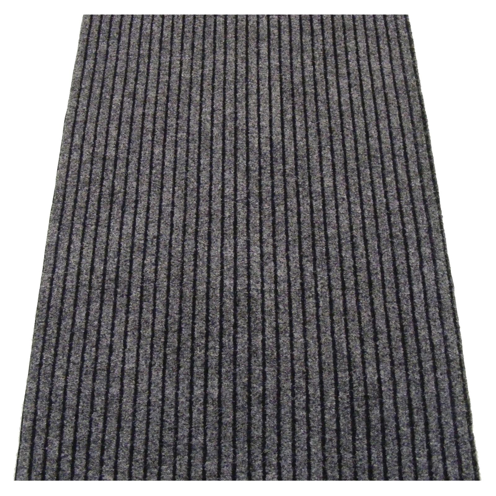 Ideal DIY Grey Dallas Wide Ribbed Carpet Runner - Linear Metre