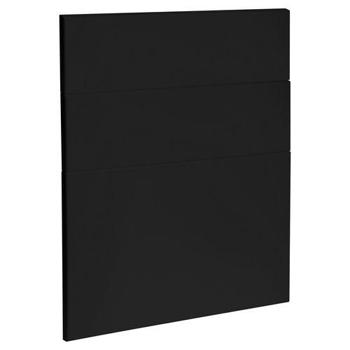 Kaboodle 600mm Black Olive Modern 3 Drawer Panels