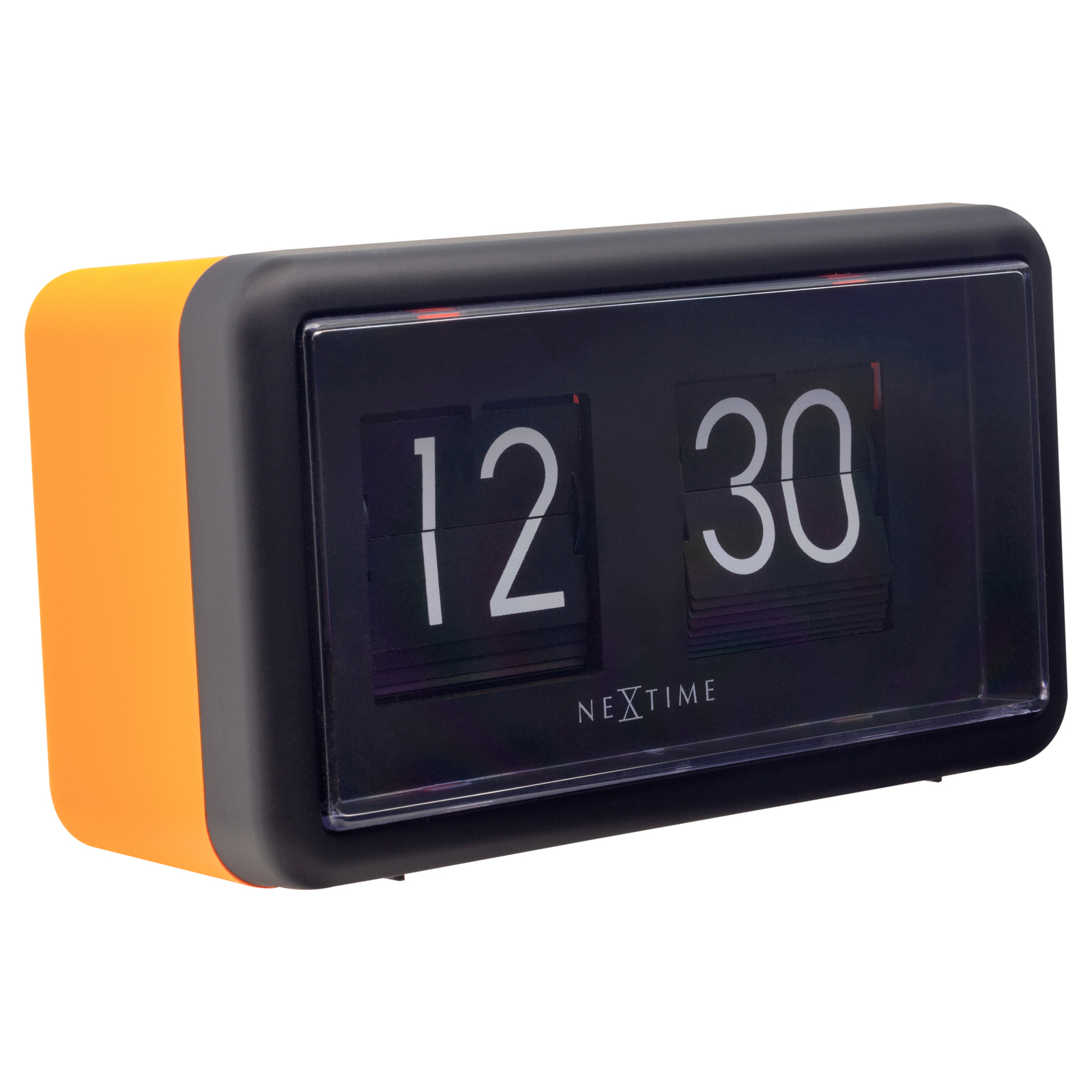 NeXtime Small Flip Clock Black & Orange
