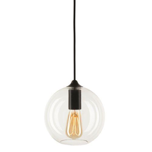 Brilliant Black DIY Orb Glass Pendant Light