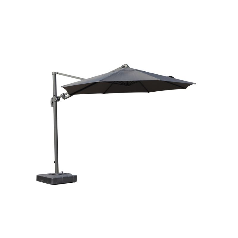 3.5m Andaman Cantilever Black Umbrella