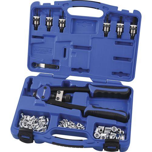 Kincrome 68 Piece Twin Handle Nut Riveter Kit