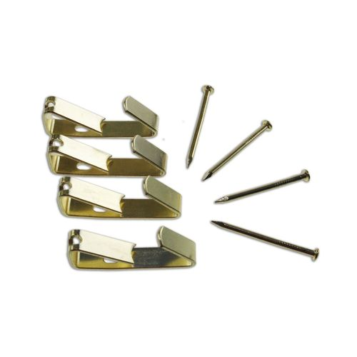 TIC Picture Hang Angle Drive Hooks Brass Plated 8kg