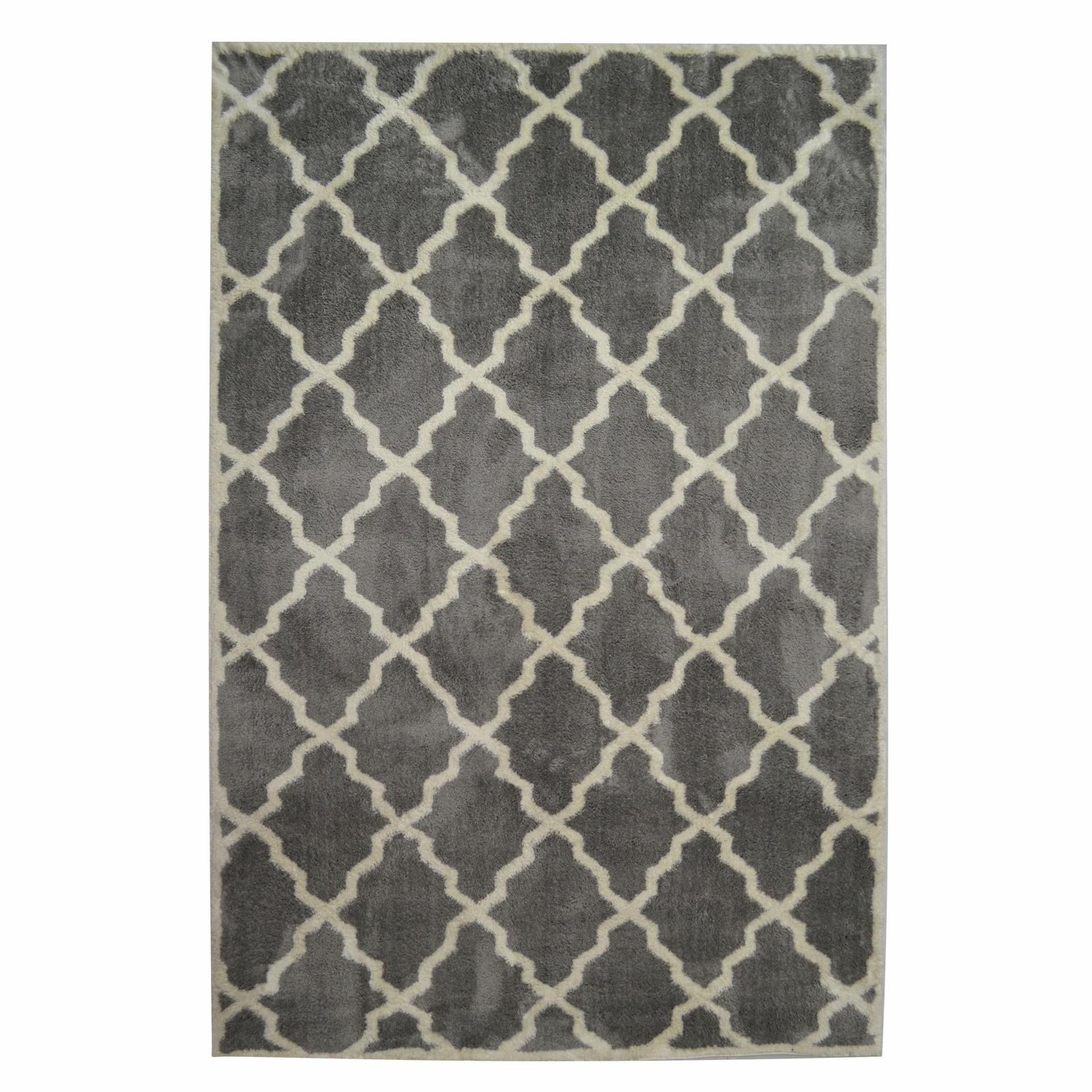Serene 160 x 230cm Grey Lattice Rug