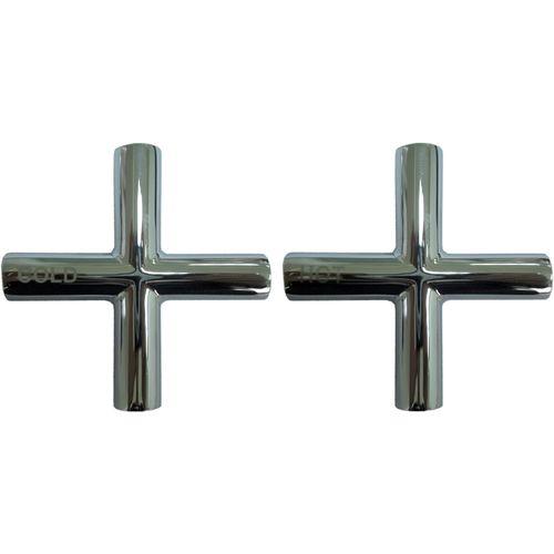Shaw & Mason Chrome Cross Style Tap Handle