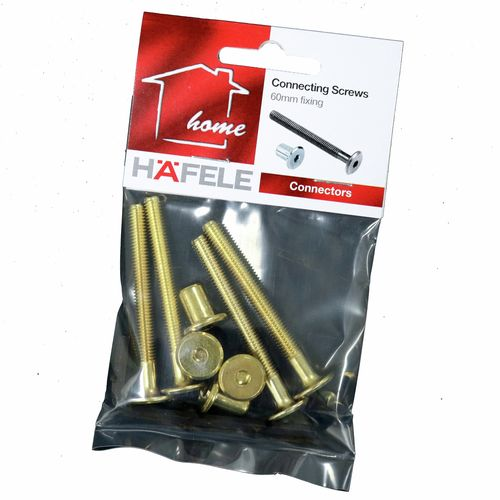 Hafele 60mm Connecting Screw And Nut - 4 Pack